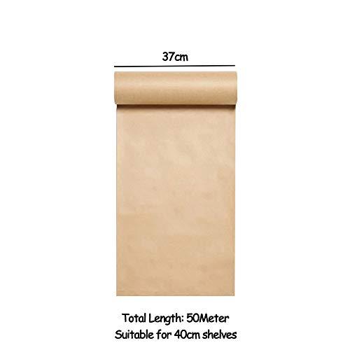 Rollo de Papel Kraft Gadgets Montado en la Pared Papel Kraft Rollo de Papel Holder Dispensador de Papel para Oficina Casa y Café Tienda - Solo Rollo de Papel,37cm*50meter