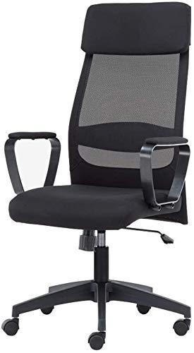 Sillones GSN Silla Silla de Oficina cojín Grande de algodón elástico Cabeza Almohada Malla de algodón cómodo y Transpirable sillas Elevadoras Que soportan el Peso de 250 Kilos Negro