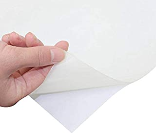 Soft Silicone Rubber Sheet White,50 A Durometer, High Temp,Adhesive Back 12 x12 inch, 1mm Thickness