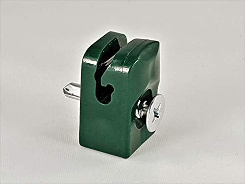 OuM 100 Stück Spanndrahthalter Drahthalter mit Schraube, Grün für Maschendrahtzaun
