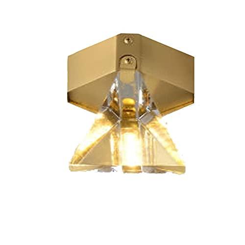 Kangl Nieuwe Nordic Diamond Gangpad Armatuur LED Modern Licht Luxe Kristal Minimalistische Slaapkamer Woonkamer Garderobe Lamp Persoonlijkheid Creatief Restaurant Bar Koffie Winkel Sfeer Plafondlamp