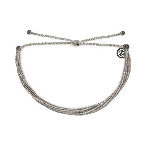 Pura Vida Original Silver Light Bracelet - Silver Plated Charm, Adjustable Band - 100% Waterproof