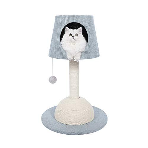 HXGL-Cat klimrek Cat Nest kat krabpaal Krabpaal klimrek Pet Toy Nordic stijl tafellamp Easy To Stabiel Duurzaam Small Footprint Fashion Simple Assemble (Color : Blue)