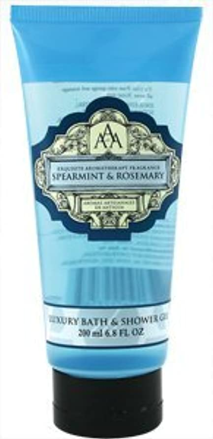 AAA Aroma Spearmint & Rosemary Luxury Bath And Shower Gel 200ml by Aromas Artisanales de Antigua