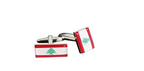 Flaggenfritze® Manschettenknöpfe Fahne Libanon, libanesische Flagge