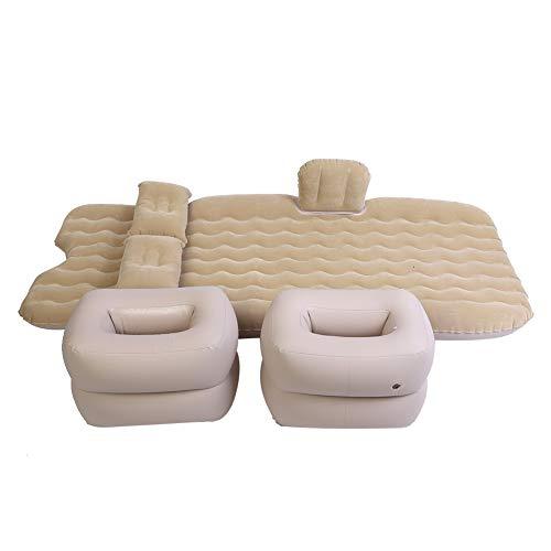 Luftbett, Aufblasbare Matratze Selbstaufblasende Matratze Aufblasbare Bett Luftmatratze Indoor Outdoor Camping Reisen Auto Rücksitz Luftbetten Kissen Beige
