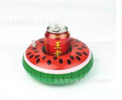 hemore hinchable flotante soporte para bebidas cerveza plana lata de bebida plana Piscina Baño juguete Party, rojo sandía, medium