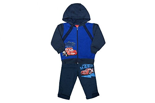 Junge Sport-Anzug Freizeit- oder Trainings-Anzug mit Cars Motiv von Disney mit oder ohne Kaputze (Modell 4, 80)