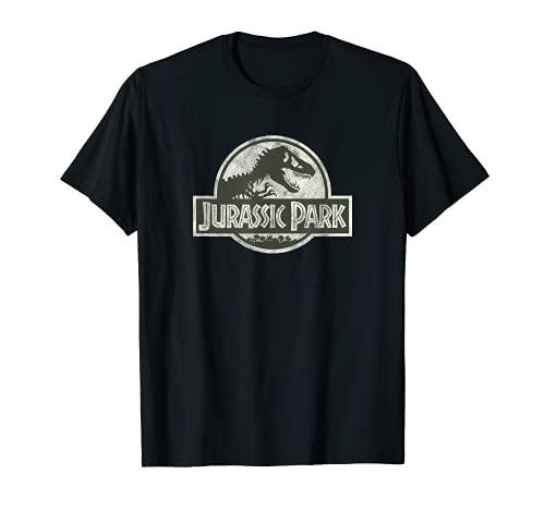 Jurassic Park Classic Retro Hidden Secret Logo Maglietta