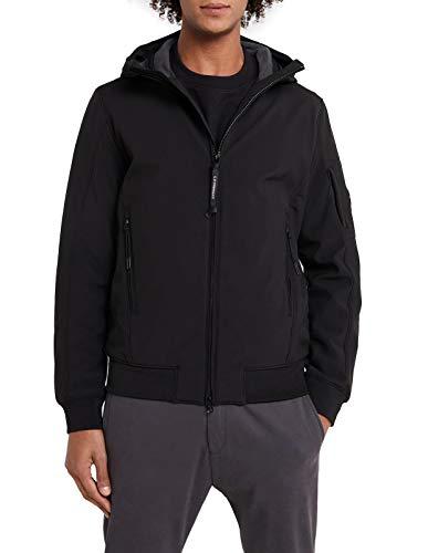 C.P. COMPANY korte zwarte jas met capuchon 08CMOW021A-005659A 999