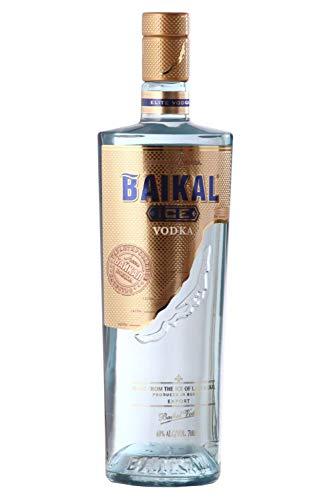 Baikal Ice Vodka, russischer Premium Wodka 40% vol., Qualitätsvodka mit Eis des Baikalsees und veredelt mit Extrakten aus Zitronenmelisse und grünem Tee (1 x 0.7 l)