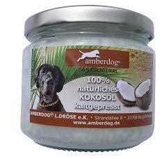 Kokosöl gegen Zecken für Hunde, Katzen und andere Tiere 250ml von Amberdog® - Das ORIGINAL