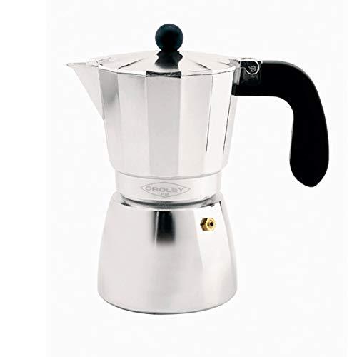 Oroley - Cafetera Italiana Alu | Aluminio | 12 Tazas | Cafetera Vitrocerámica, Fuego y Gas | Estilo Tradicional