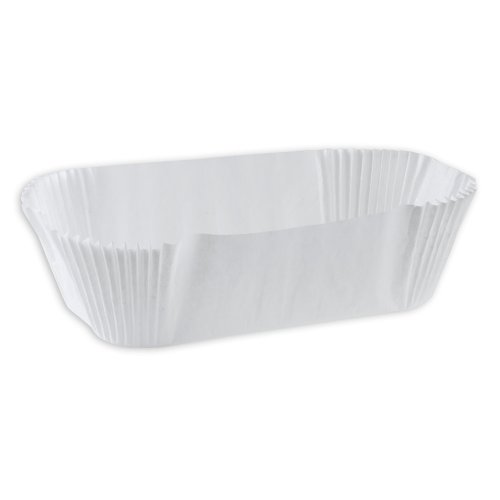 SafePro 6OB, 7x3x2-Inch White Oblong ?clair Paper Baking Cups, Best Quality Standard Size White Cupcake Paper Liners (50)