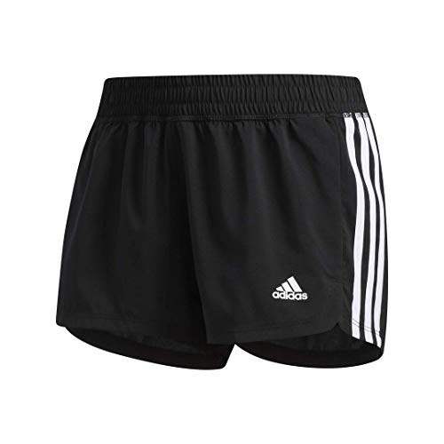 adidas Women's 3-stripes Woven Short, Black/White, Small