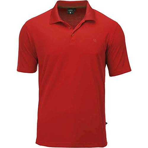 Linea Primero Aben Herren Funktions-Polo Shirt, Rot, 7XL
