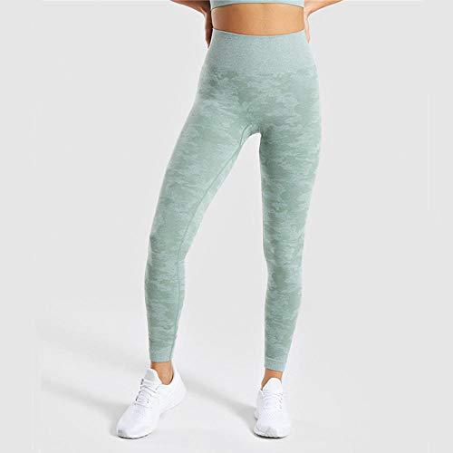 Jianhui Gym Camo Seamless Leggings Mujeres Pantalones de Yoga de Cintura Alta Push Up