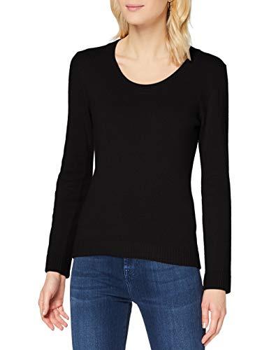Sisley Sweater L/s Maglione, Black 700, S Donna