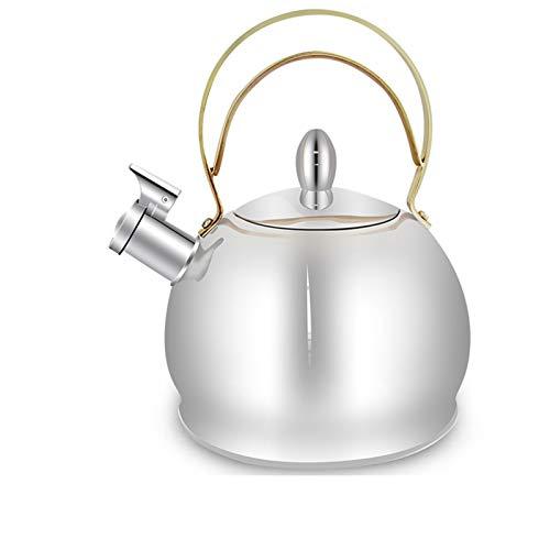 SQL Kettle de Gas de Acero Inoxidable Silbato de Gran Capacidad de Gas Natural de Gas Natural Cocina de inducción Kettle Universal Tea House Cafe