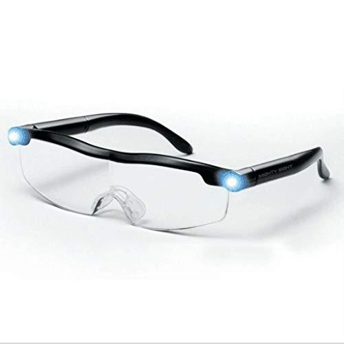 ZDY Muy Buena Vista con Luz LED Vidrios Multifuncionales De Lectura De Vidrios De Lupa Lupa Vidrios con Visión De La Vista 1.6X Rechargeable