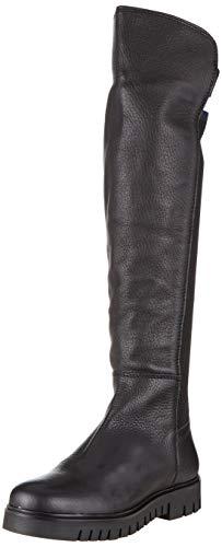 Tommy Hilfiger Flag Sock Tommy Jeans Boot, Stivali Alti Donna, Nero (Black 990), 37 EU