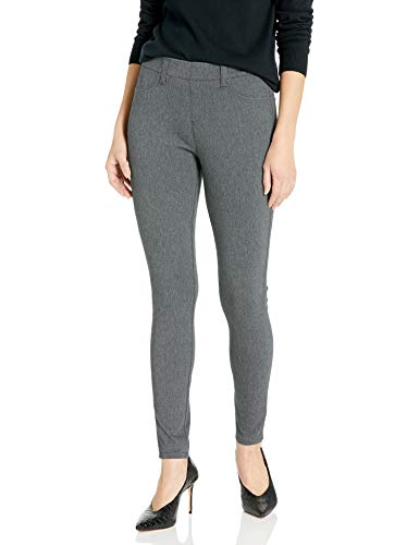 Amazon Essentials Women's Skinny Stretch Pull-On Knit Jegging, Charcoal Heather, Medium Regular