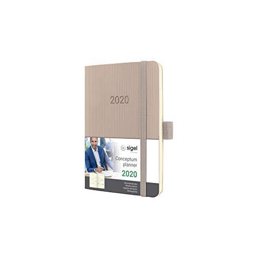 SIGEL C2031 Wochenkalender 2020, ca. A6, cremefarben, Softcover Conceptum - weitere Modelle