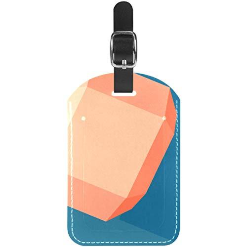 Gepäckanhänger Hantel Leder Reise Koffer Etiketten 1 Packung