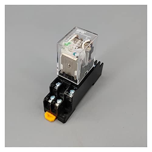 Jgzwlkj Relé MY2P HH52P MY2NJ Relais Boil General DPDT Micro Mini Relaje electromagnético Interruptores con la Base del zócalo LED 110V 220V DC 12V 24V (Größe : AC 220V)