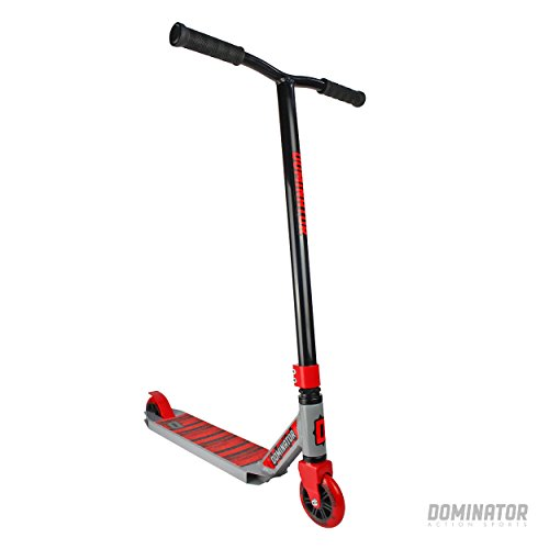 Dominator Cadet Pro Scooter - Best Beginner Level Beginner/Intermediate Pro Scooter - for Kids Ages 8+ and Heights 4.0ft-5.5+ft (Black/Grey)