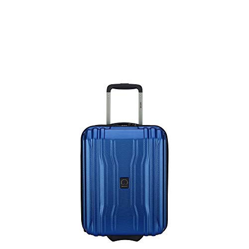 DELSEY Paris Cruise Lite Hardside 2.0 Luggage Under-Seater with 2 Wheels, Blue, Carry-on 19 Inch