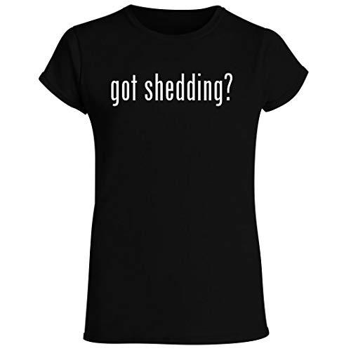 got shedding? - Women's Crewneck Short Sleeve T-Shirt, Black, XX-Large