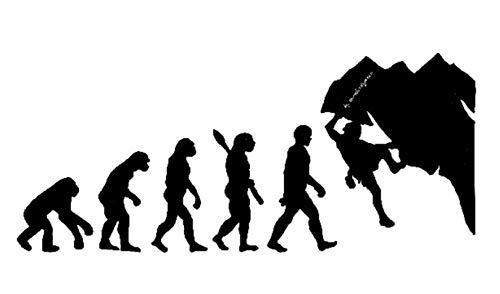 EVOLUCION ESCALADA .- NEGRO BRILLO -. 29x12cms. ( MANB )