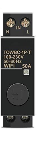 Interruptor Inteligente WIFI de Control Remoto por Smart Life, Tuya Smart, Google Assistant y Alexa. Carril Din.