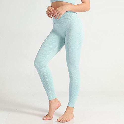 Mallas Leggings De Mujer De Moda Skinny High Elastic Waist Push Up Longitud De Tobillo Leggings De Nylon Workout Solid Lady Jeggings L Turquesa