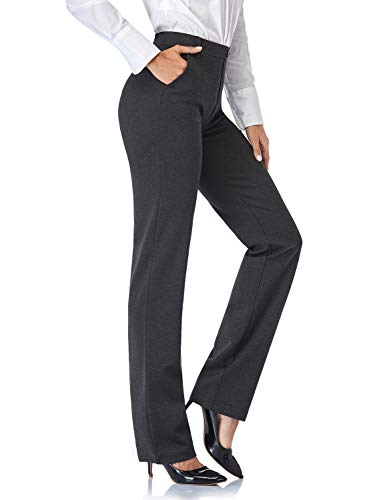 Tapata Women's 32'' Stretchy Straight Trousers Dress Pants with Pockets...