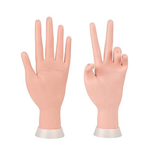 Maniküre Übung Hände & Finger Nagel Hand Praxis Modell Flexible Bewegliche Weiche Kunststoff Hand für Fake Nail Art Starter Training