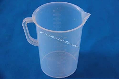 5000ml 5L PVC Medición Graduado de plástico transparente Vaso de plástico Vaso