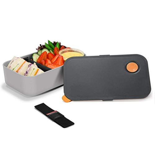 Bento Boxes,Cadrim Lunch Box 1000ML with 2 Compartments Hermetic Food Box...