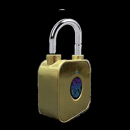 HEQIE-YONGP Cerradura de puerta de seguridad para el hogar, bloqueo de huellas dactilares, carga USB, impermeable, inteligente, antirrobo para puerta de equipaje (color de arena movediza)