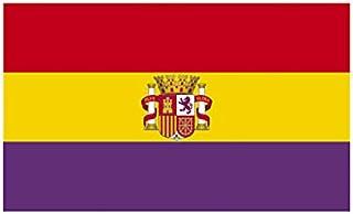 Desconocido Bandera Republica ESPAÑOLA con Escudo Republicana Grande 150 Cm 1,5 Metros