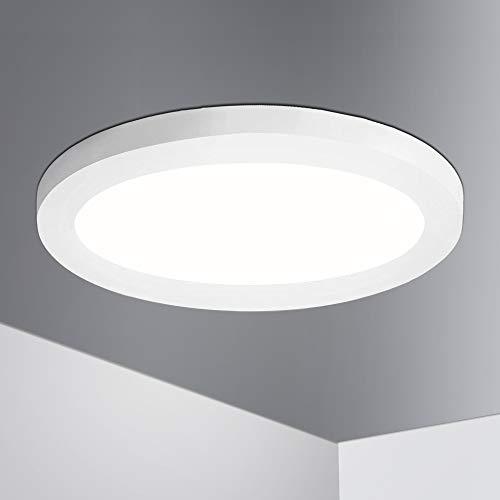 Lumare LED Deckenleuchte 12W Extra Flach rund 800lm 170mm ersetzt ca. 60W IP44 Deckenlampe, Wohnzimmer Badezimmer Küche Flur Keller Bad Wandleuchte Einbau- u. Aufbaustrahler modern warmweiß