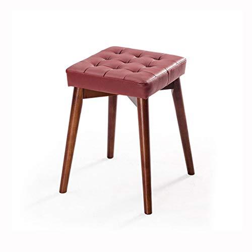 YXB Effen houten kruk lederen materiaal bank stoel multifunctionele kruk D3/29