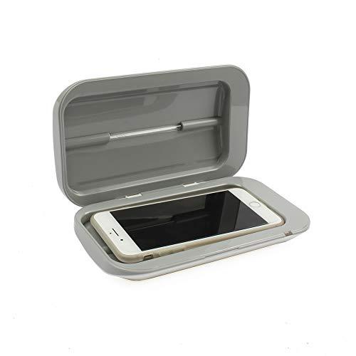 Tragbarer Doppel UV-Sterilisator-Box Schmuck-Uhr-Telefon-Reiniger Körperpflege Sanitize Werkzeuge Desinfektion Box Reinigungsgerät Mit Wireless-Ladegerät Lade