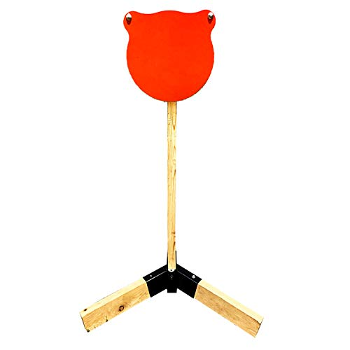 """Highwild Target Stand AR500 Steel Target System - 12"""" x 3/8"""" Gong with 2x4 Stand Mount Kit"""