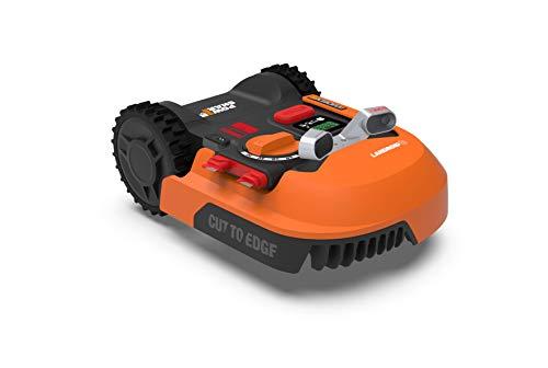 WORX Tondeuse Robot Connectée/Tondeuse à Gazon sans Fil LANDROID - WR900E(WR141E+ACS) - jusqu'à 500m² (Gestion multizone, Tond sous la Pluie, Coupe au Bord, App Contrôle, Tonte Intelligente)