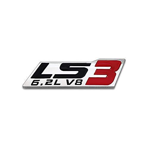 Chrome Metal LS3 6.2L V8 Logo Car Emblem Premium 3D Badge GM Engine Sticker Auto Decal