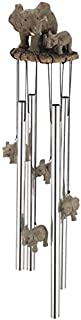 George S. Chen Imports Wind Chime Round Top Elephant Family Garden Decoration Windchime
