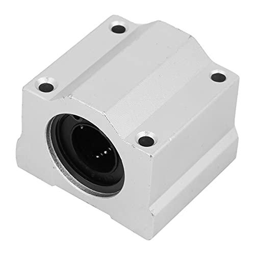 Bloque deslizante de cojinete lineal de 16 mm, SCS16UU Aleación de aluminio Carril largo Movimiento lineal Cojinete de bolas Buje de bloque deslizante para transmisión