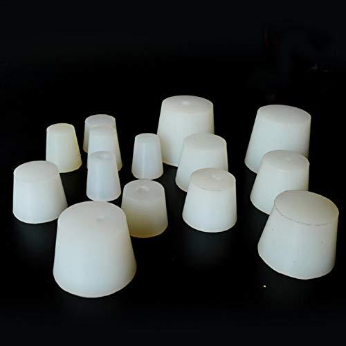 Tapón de goma maciza, paquete de 5 tapones de goma para laboratorio, tapón de goma, tapón de sellado a presión, tapón cónico, 1 # - 13 tamaños surtidos